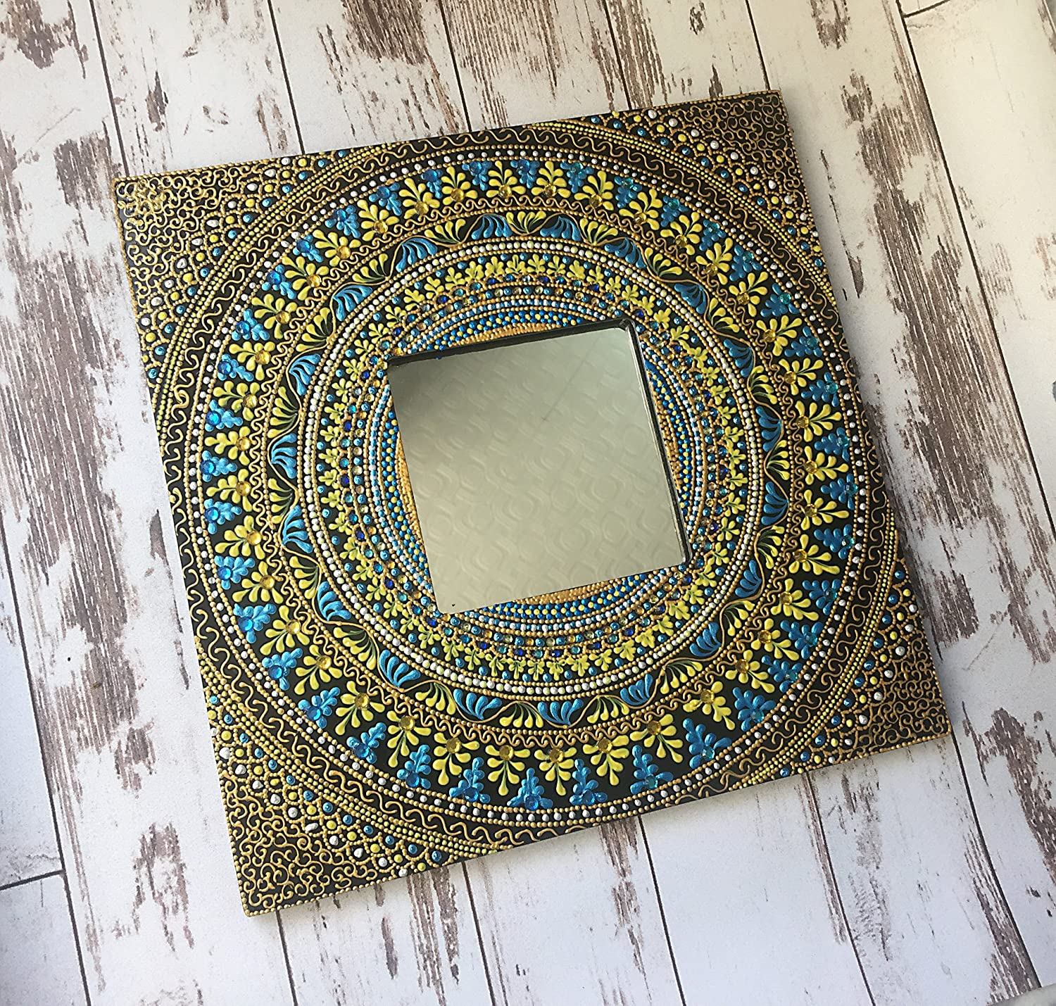 Amazon Com Unique Wall Mirror Small Mirror Wood Frame Mirror Hanging Mirror Handmade Mirror Living Room Mirror Decorative Mirror Framed Mirror Handmade