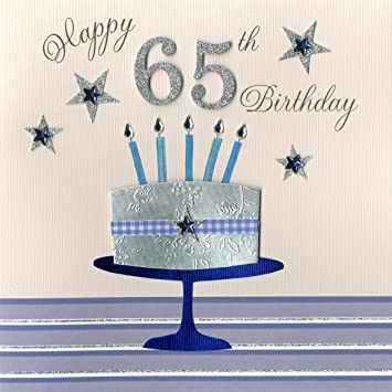 Second Nature A 65th Birthday With Cake And Candles Collectable Keepsake Handmade Card Amazoncouk Office Products