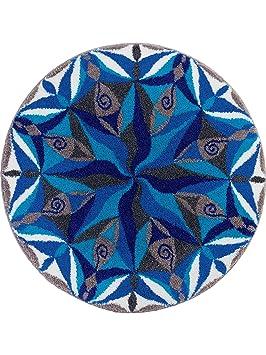 Grund Tapis Salle de Bain Channel pas cher Bleu ø 100 cm rond ...