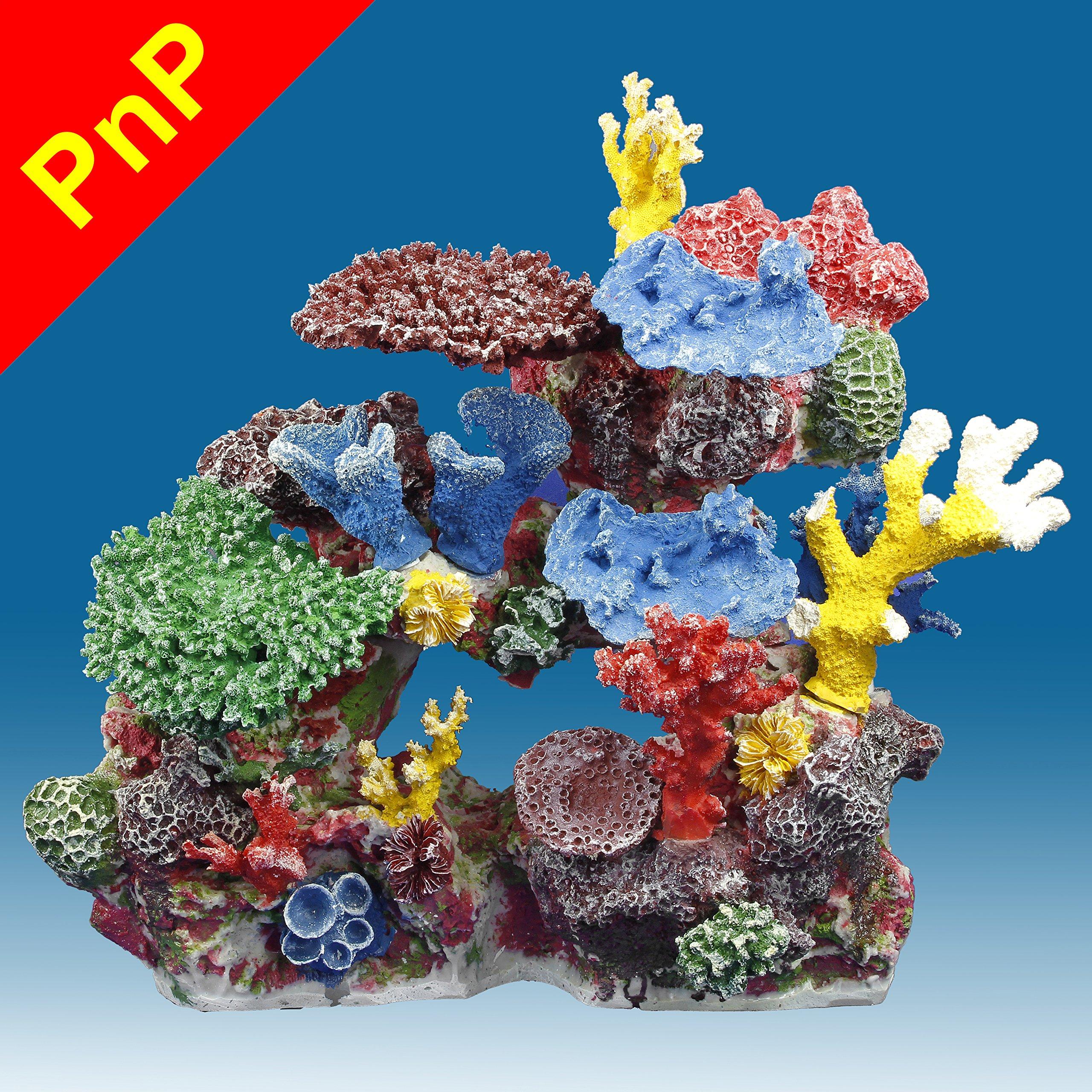 Instant Reef DM032PNP Artificial Coral Reef Aquarium Decor for Saltwater Fish, Marine Fish Tanks and Freshwater Fish Aquariums