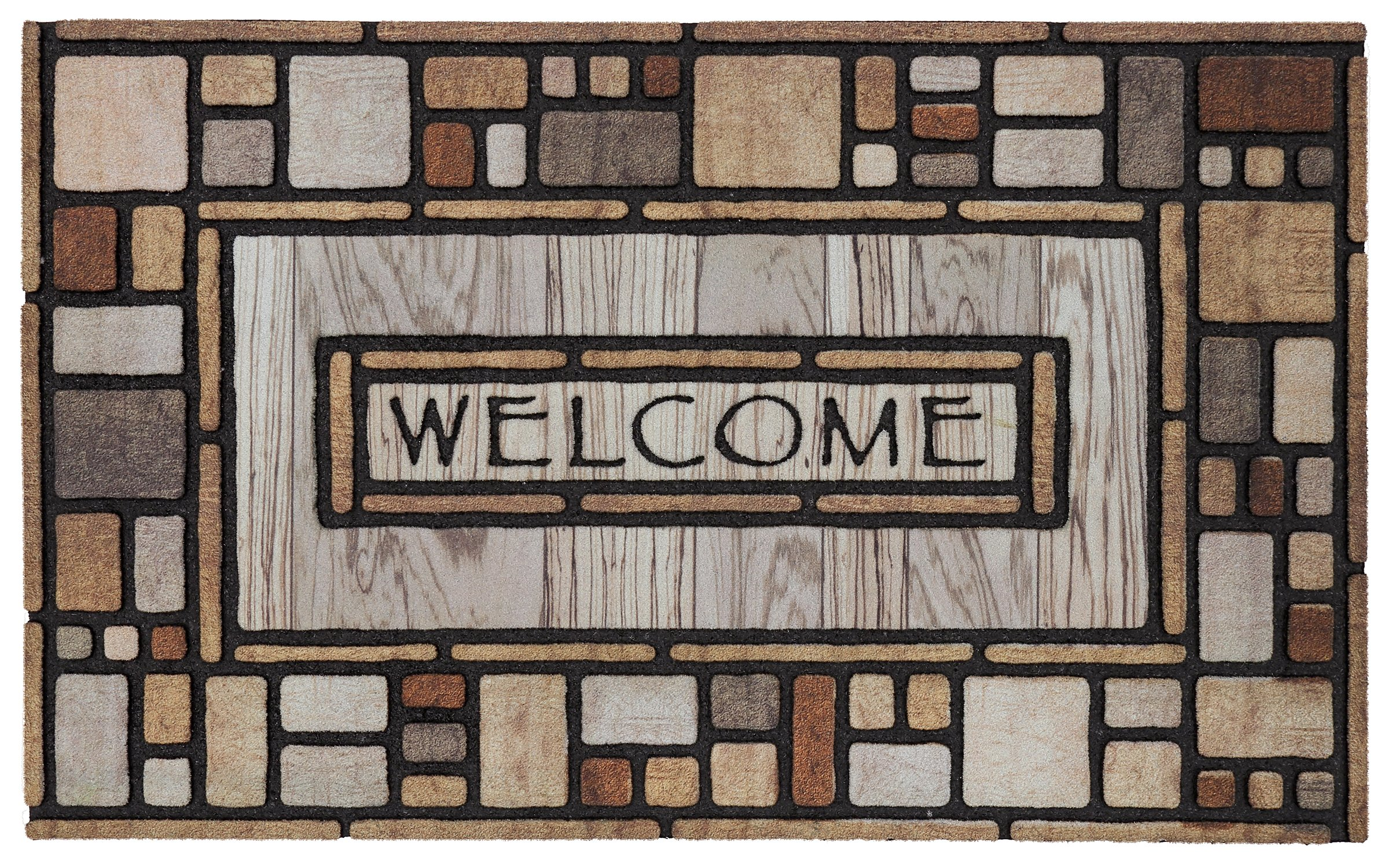 Mohawk Home Doorscapes Drifted Nature Mat, 1'6x2'6, Multi by Mohawk Home