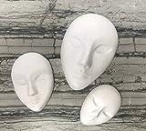 Ceramic Keepsake set of 3pcs Faces. Paint your