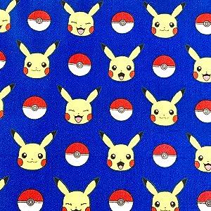 Fabric Face Mask Material Precut 100% Cotton 18x21 Inch (Blue Pokemon)