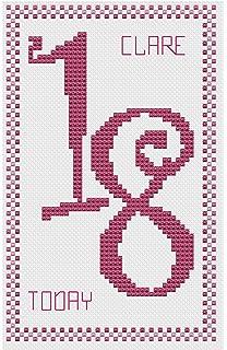 40th Birthday Pink Cross Stitch Card Kit by Florashell