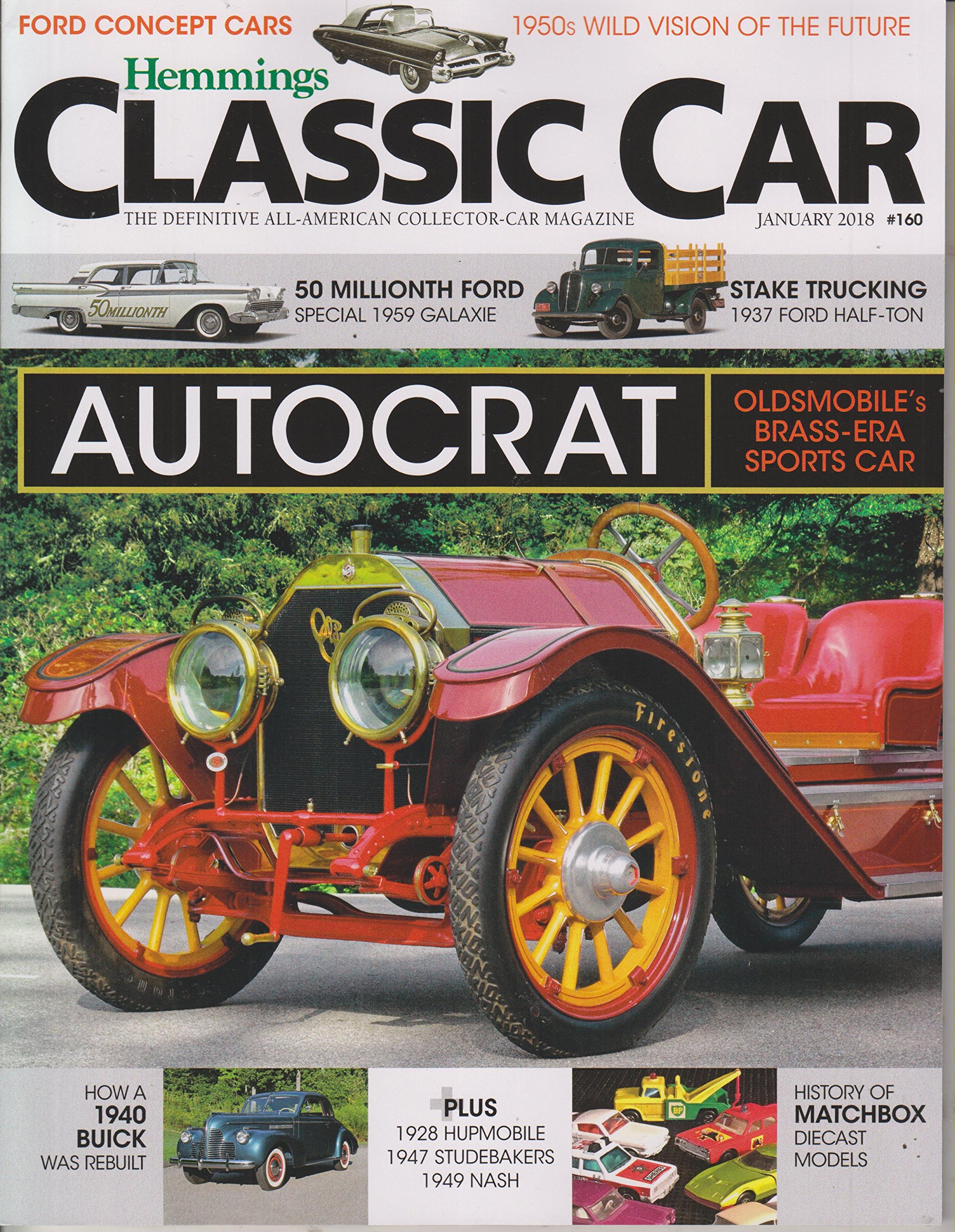 Hemmings Classic Car January 2018 Autocrat Oldsmobiles Brass Era 1950s American Cars Oldsmobile Sports Various Muscle Machines Books