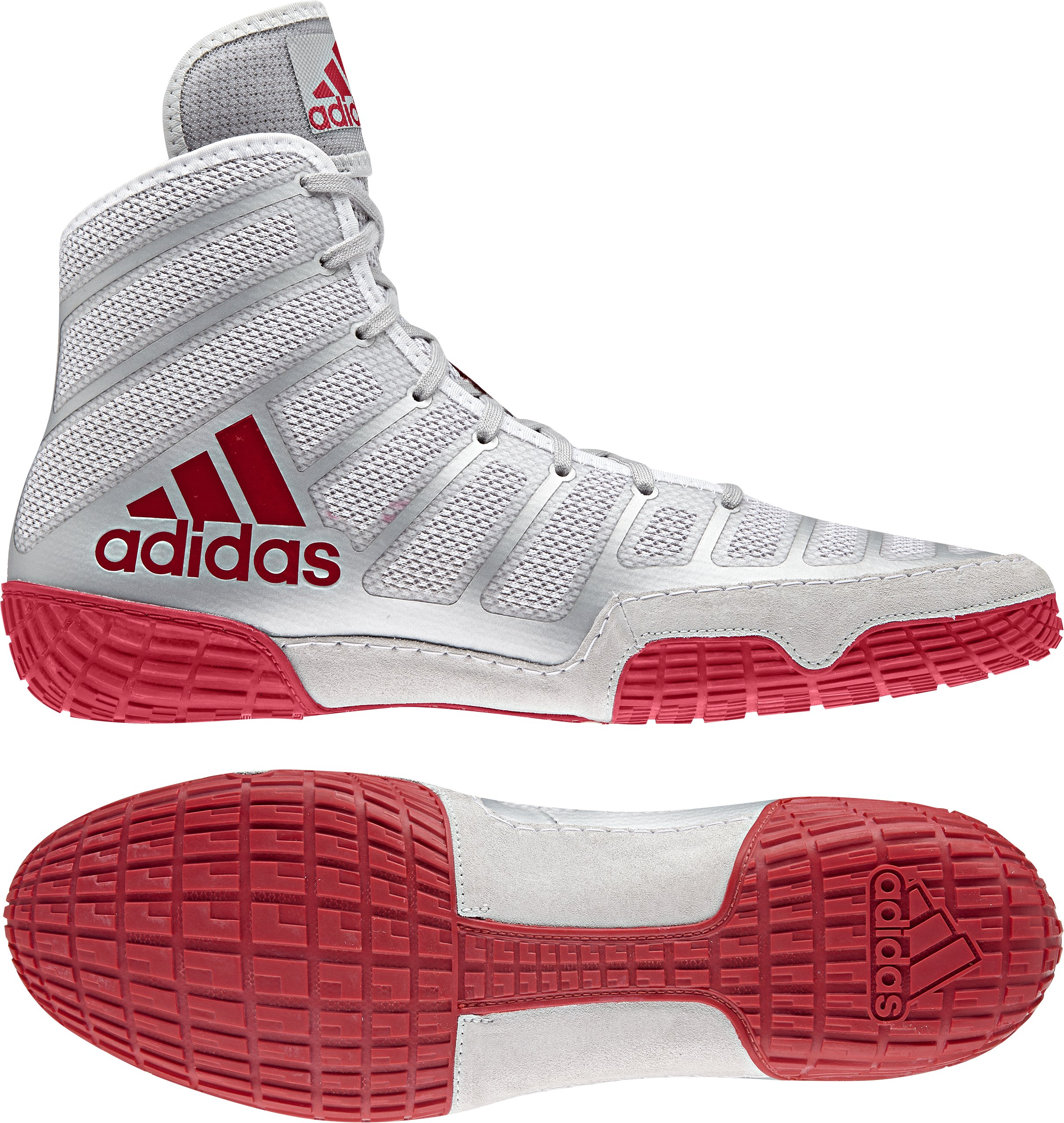pretty nice f5541 4534a Galleon - Adidas Adizero Varner Wrestling Shoes - Red Silver Red - Mens - 9