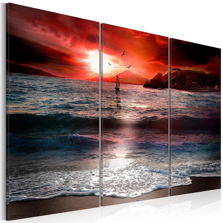 Murando - handbemalte Bilder auf Leinwand Abstrakt 60x40 cm - 3 Teilig - Leinwandbilder - Wandbilder XXL - Kunst - Wandbild - Modern Farbe 9050019