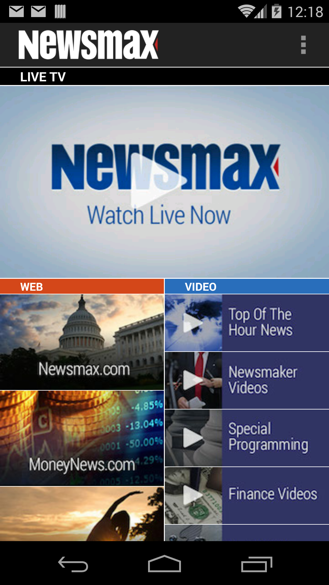 Newsmax Tv Amp Web Amazon Com Au Appstore For Android