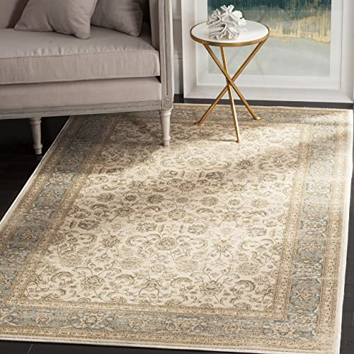 Safavieh Vintage Collection VTG571A Transitional Oriental Ivory and Light Blue Distressed Area Rug 6 7 x 9 2