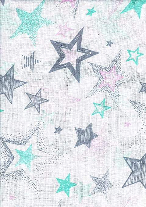 Gasas Impreso 5 Pack multicolor para Vómitos paños pañales de tela 70 x 80 algodón nuevo (estrellas blanco/verde/rosa/gris): Amazon.es: Bebé
