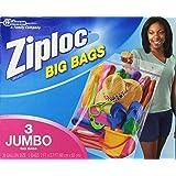Ziploc Big Bag Double Zipper, 3 Jumbo Big Bags