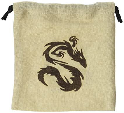 Amazon.com: Q-workshop: Chino Dragón Dados Bolsa en lino ...