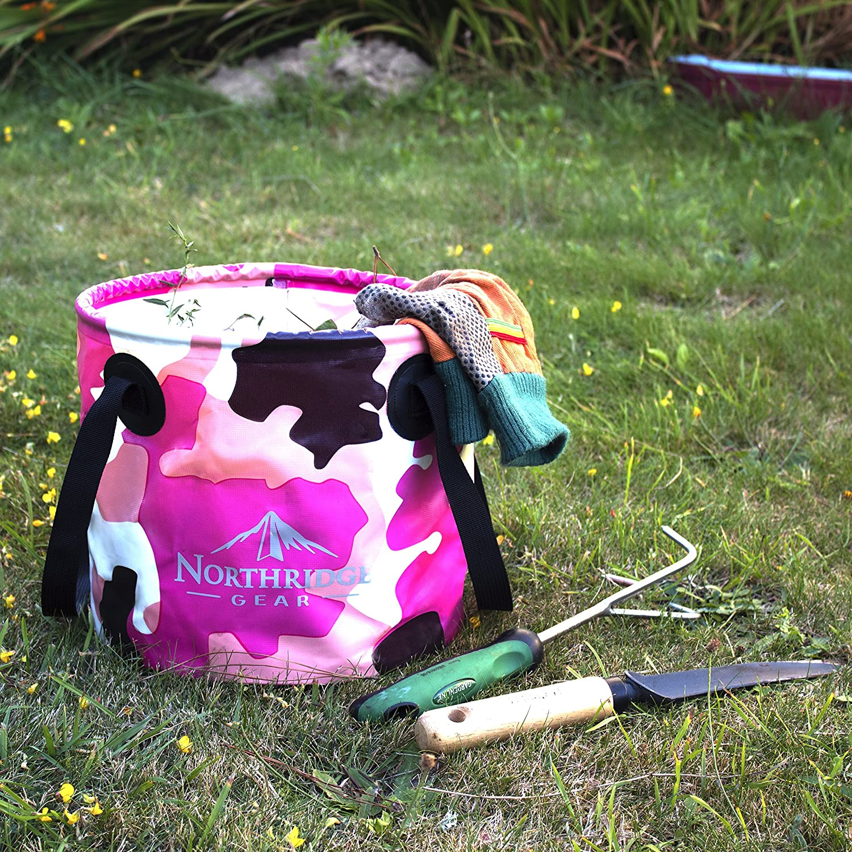 Camping Pesca Fiesta Jard/ín Recipiente de Agua o Fregadero Plegable Se Puede Usar como taz/ón de Lavado Plegable Northridge Gear Cubo Plegable Plegable en dise/ño Moderno