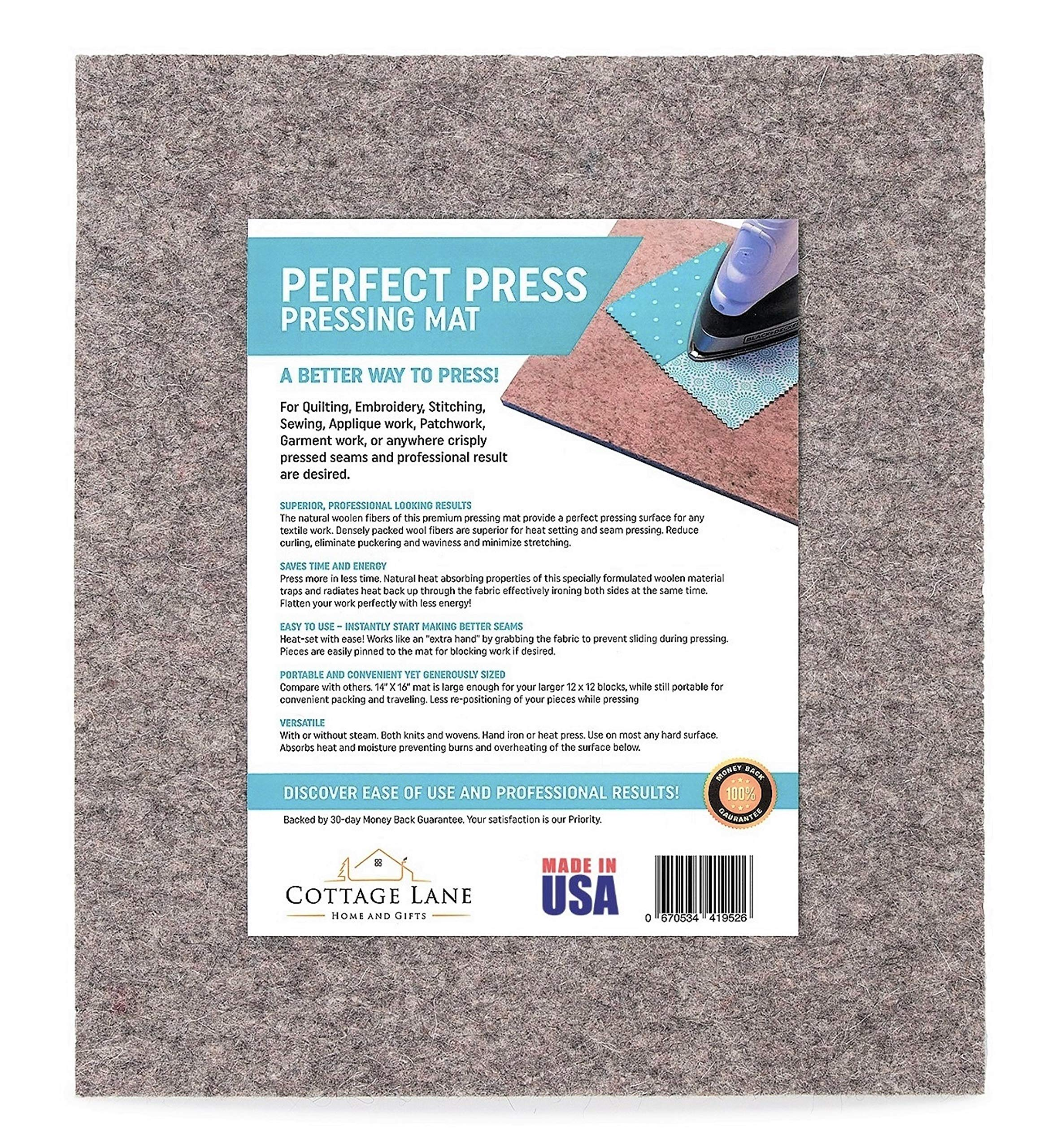 Portable Plus Perfect for All Ironing Station 18 X 14 Wool Pressing Mat for Quilting 100/% New Zealand Wool Ironing Pad
