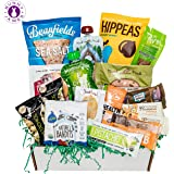Healthy Vegan Snacks Care Package: Mix of Vegan Cookies, Protein Bars, Chips, Vegan Jerky, Fruit & Nut Snacks, Vegan Gift Box