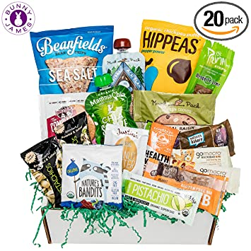 Healthy Vegan Snacks Care Package Mix Of Cookies Protein Bars Chips