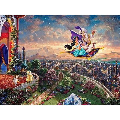 Ceaco Thomas Kinkade Disney Princess Collection Aladdin Jigsaw Puzzle, 300 Pieces: Toys & Games
