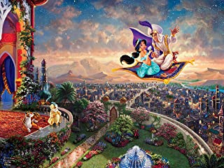 product image for Ceaco Thomas Kinkade Disney Princess Collection Aladdin Jigsaw Puzzle, 300 Pieces