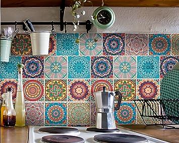 Fliesenaufkleber Für Bad Deko U. Küche   MANDALA Fliesensticker |  Mosaikfliesen U2013 Fliesensticker Selbstklebend |