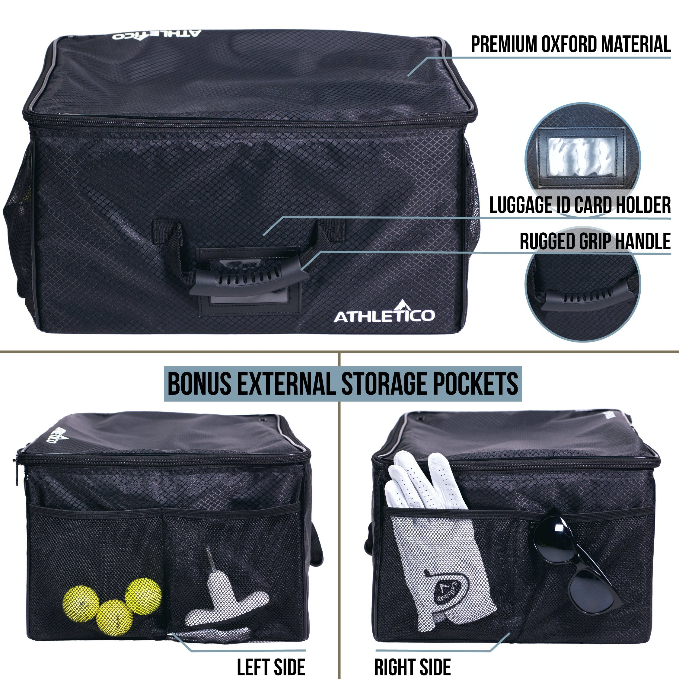 Athletico Golf Trunk Organizer Storage - Car Golf Locker To Store Golf Accessories | Collapsible When Not In Use by Athletico (Image #3)