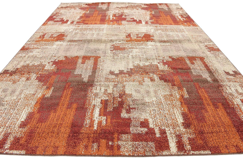 2 x 10 Runner Harvest Tan Area Rug Abstract 2 feet by 10 feet