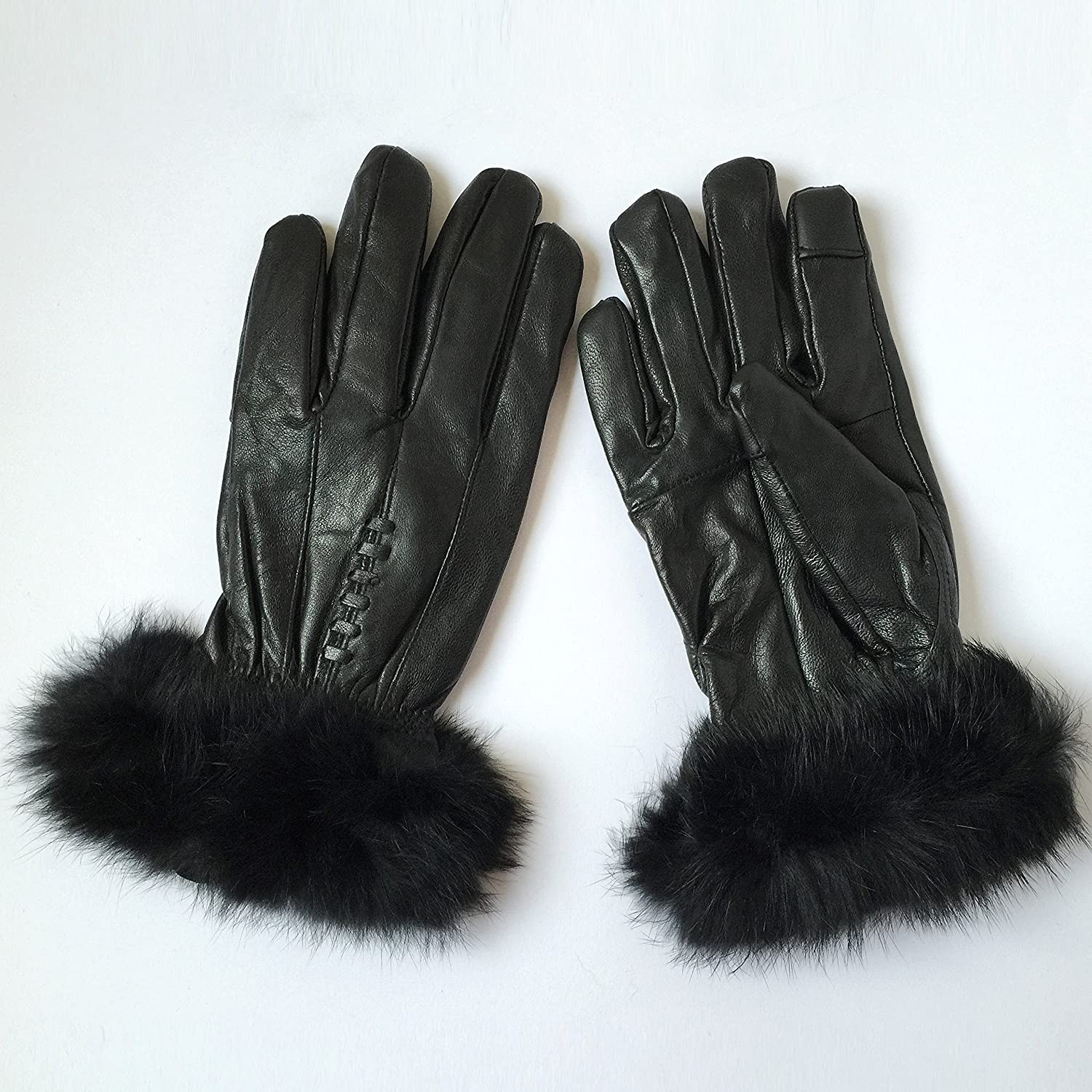 Ladies thermal leather gloves uk - Ladies Genuine Leather Gloves Thinsulate Fleece Lined Driving Soft Winter Warm Touch Screen X Large Amazon Co Uk Clothing