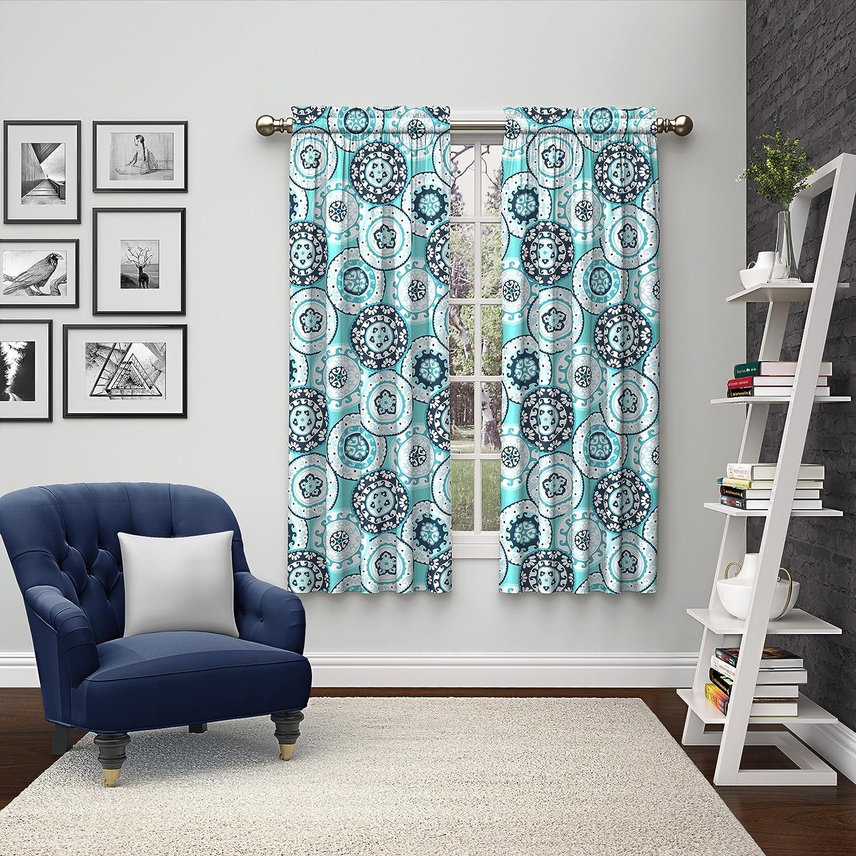 Pairs to Go Eclipse 15616056X063BLU Bradway Window Curtains (2 Pack), 56 x 63, Blue 56 x 63 Ellery Homestyles