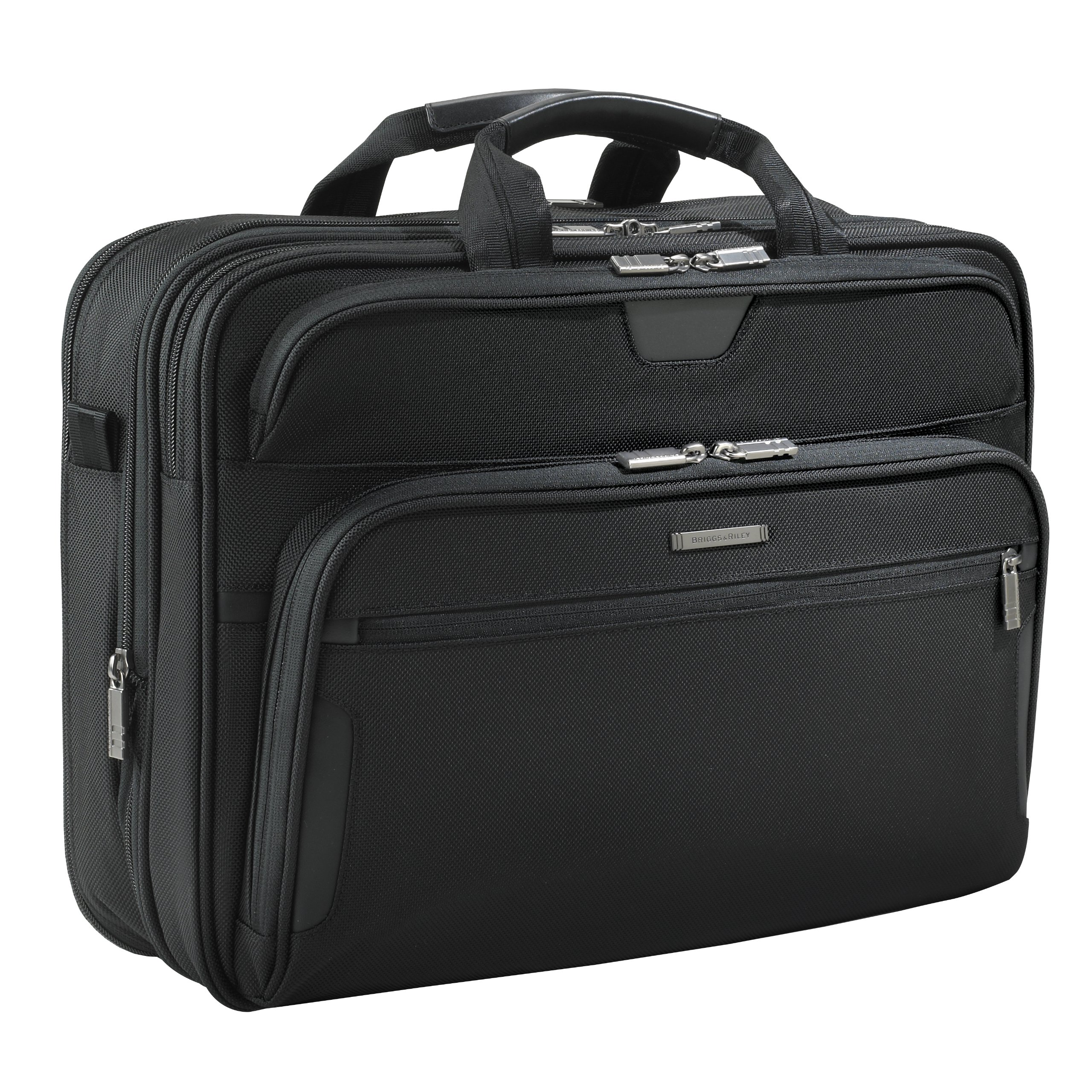 Briggs & Riley @ Work Luggage Large Expandable Brief, Black by Briggs & Riley (Image #1)