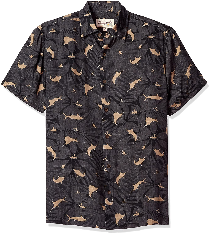 56ab9ee4708 Margaritaville Men s Short Sleeve Marlin Print Shirt Button