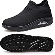 Belilent Slip On Walking Shoes Women Lightweight Sock Sneakers Work Shoes Flat Air Cushion Indoor Outdoor