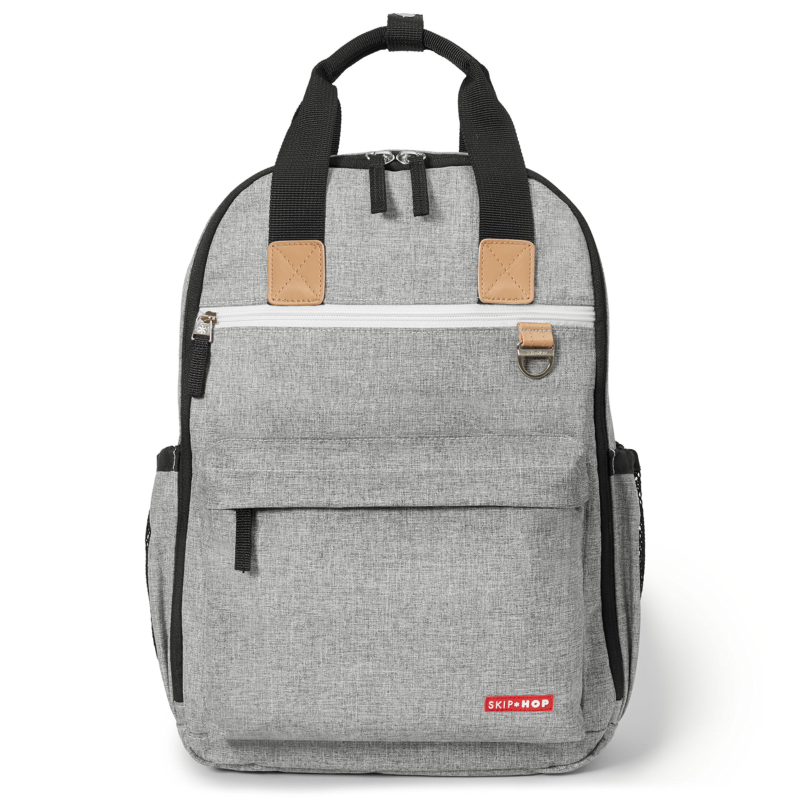Skip Hop Diaper Bag Backpack with Matching Changing Pad, Duo Signature, Grey Melange by Skip Hop
