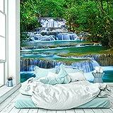 murimage Papel Pintado Cascada 274 x 254 cm Fotomurales Río de la Selva Bosque Tailandia Asia