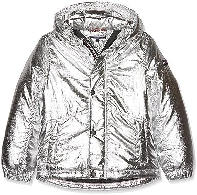 Tommy Hilfiger Jungen Jacke THKB Shine Jacket Silber