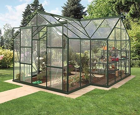 Invernadero Sirius templado de Orangerie – 3 mm Color Verde Oscuro ...