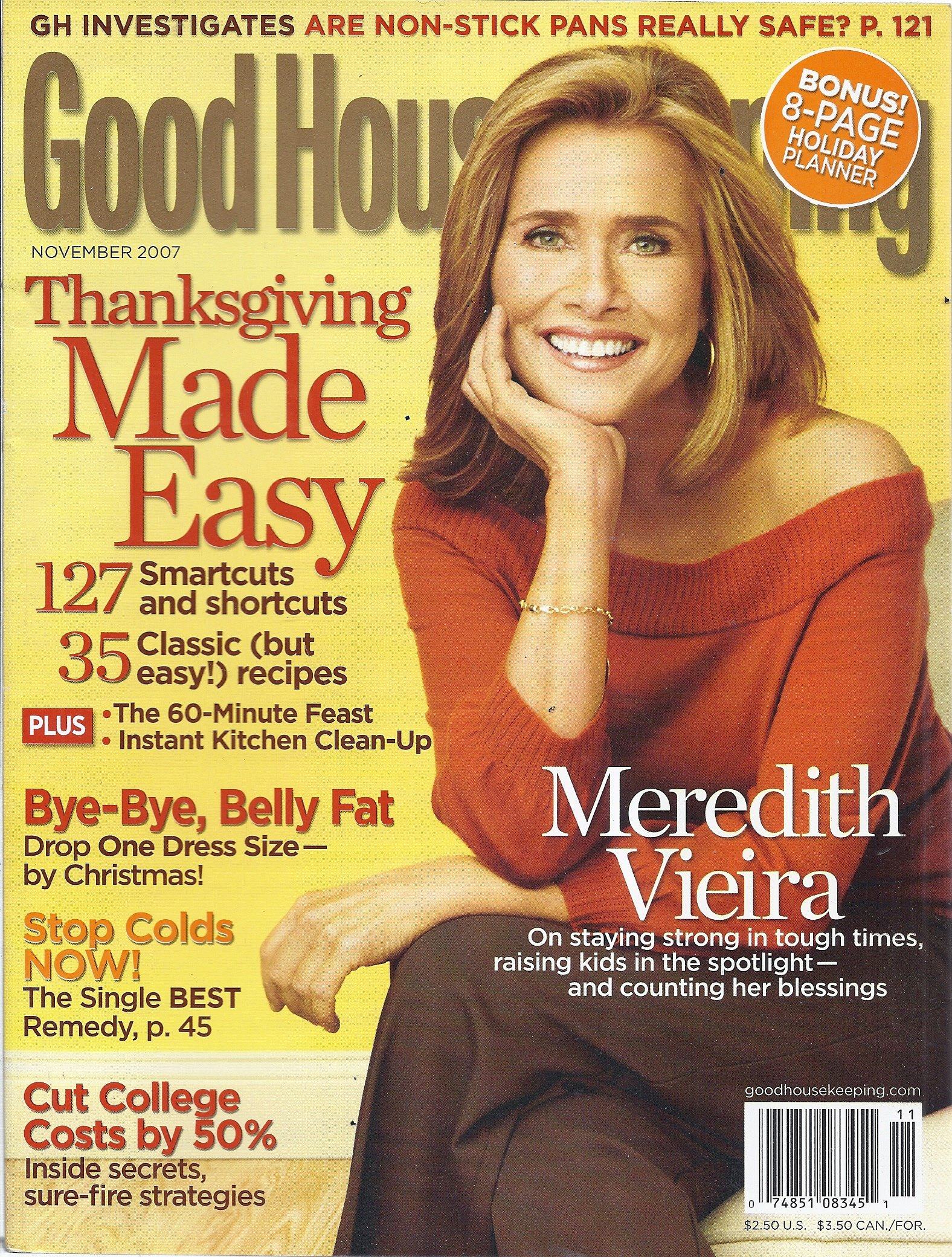 Download Good Housekeeping Magazine (November 2007 - Cover: Meredith Vieira) PDF