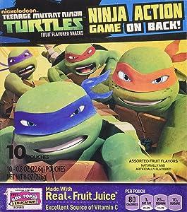 Betty Crocker Fruit Snack - Teenage Mutant NINJA TURTLES - (10) 0.8oz Pouches, 2 BOXES