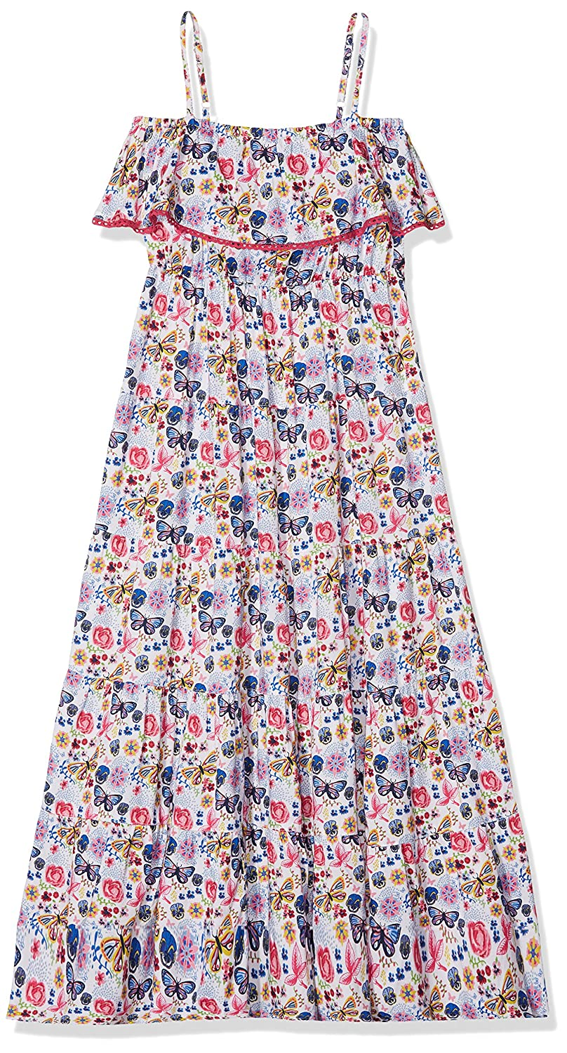 Yumi - Butterfly Floral Maxi, Robe - Fille