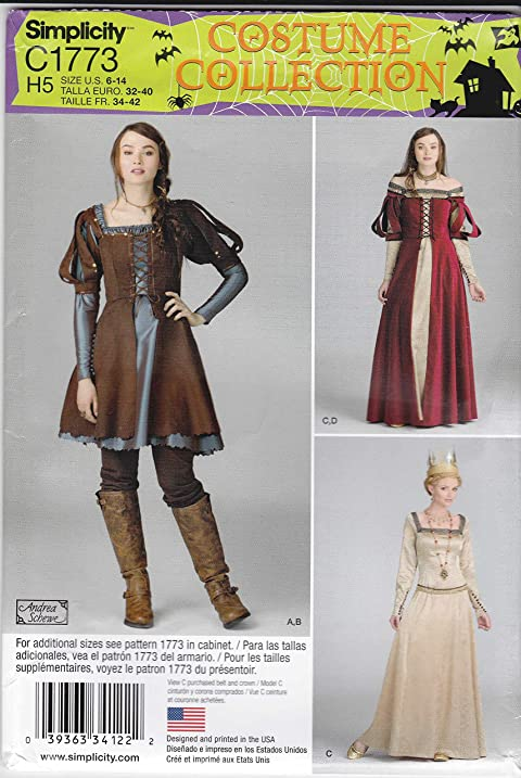 Amazon.com: Simplicity Sewing Pattern C1773 1773 Misses Sizes 6-14 ...