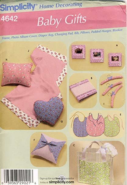 Amazon Simplicity Sewing Pattern 4642 Use To Make Baby Gift