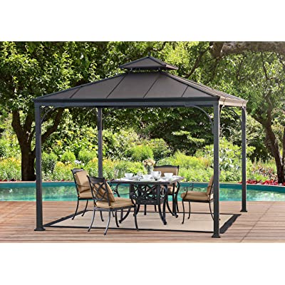Sunjoy Harper Gazebo, Large, Black : Garden & Outdoor