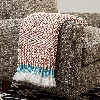 rivet striped cozy blanket