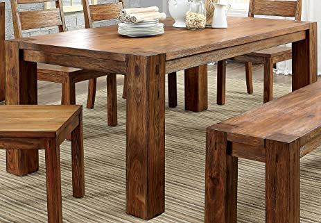 Amazon.com - Furniture of America Maynard Wooden Dining Table - Tables