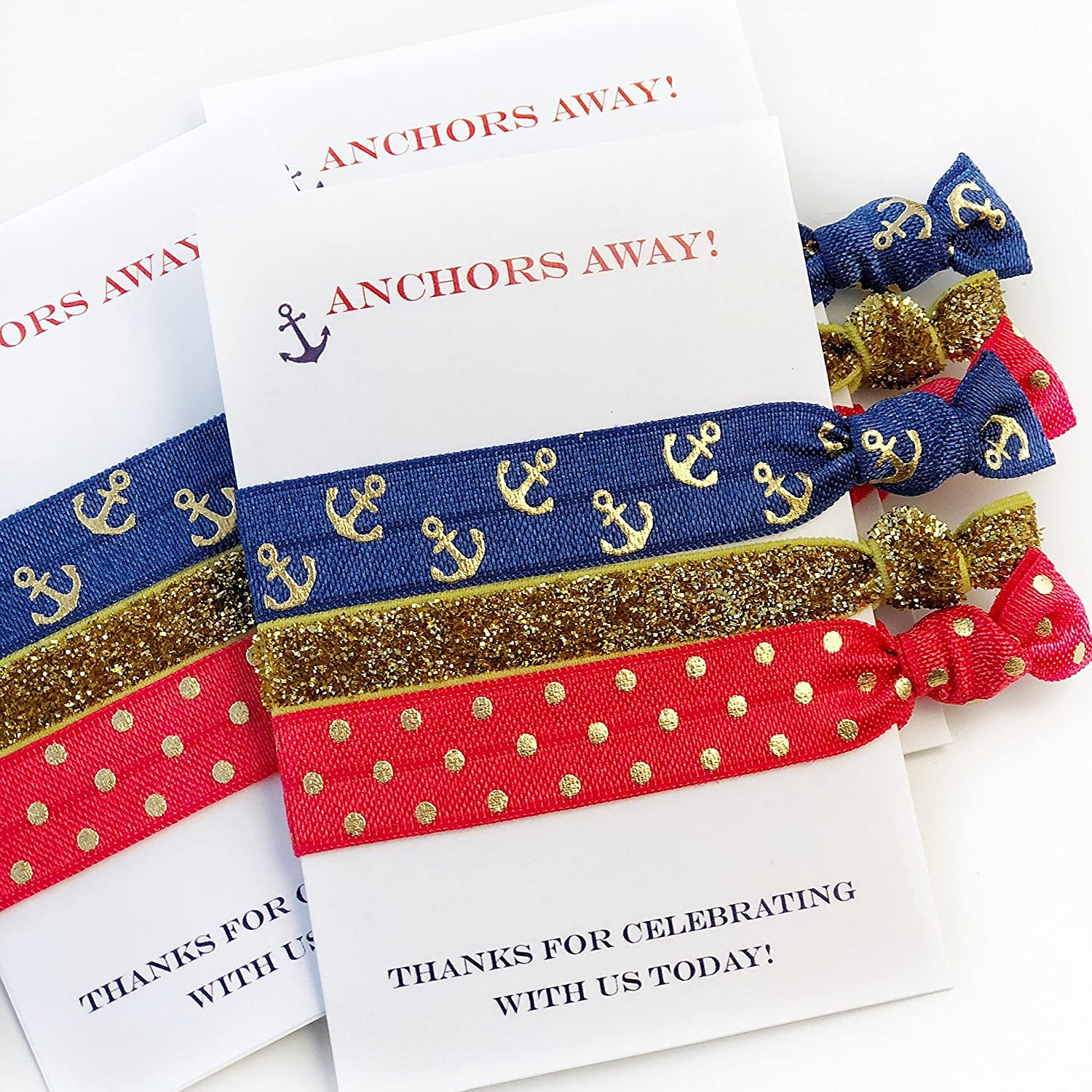 Nautical Anchor Party Favours - Hair Ties (5 Pack)
