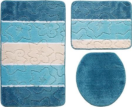 Orion Ensemble salle de bain 3 pièces Turquoise 60 x 100 cm ...