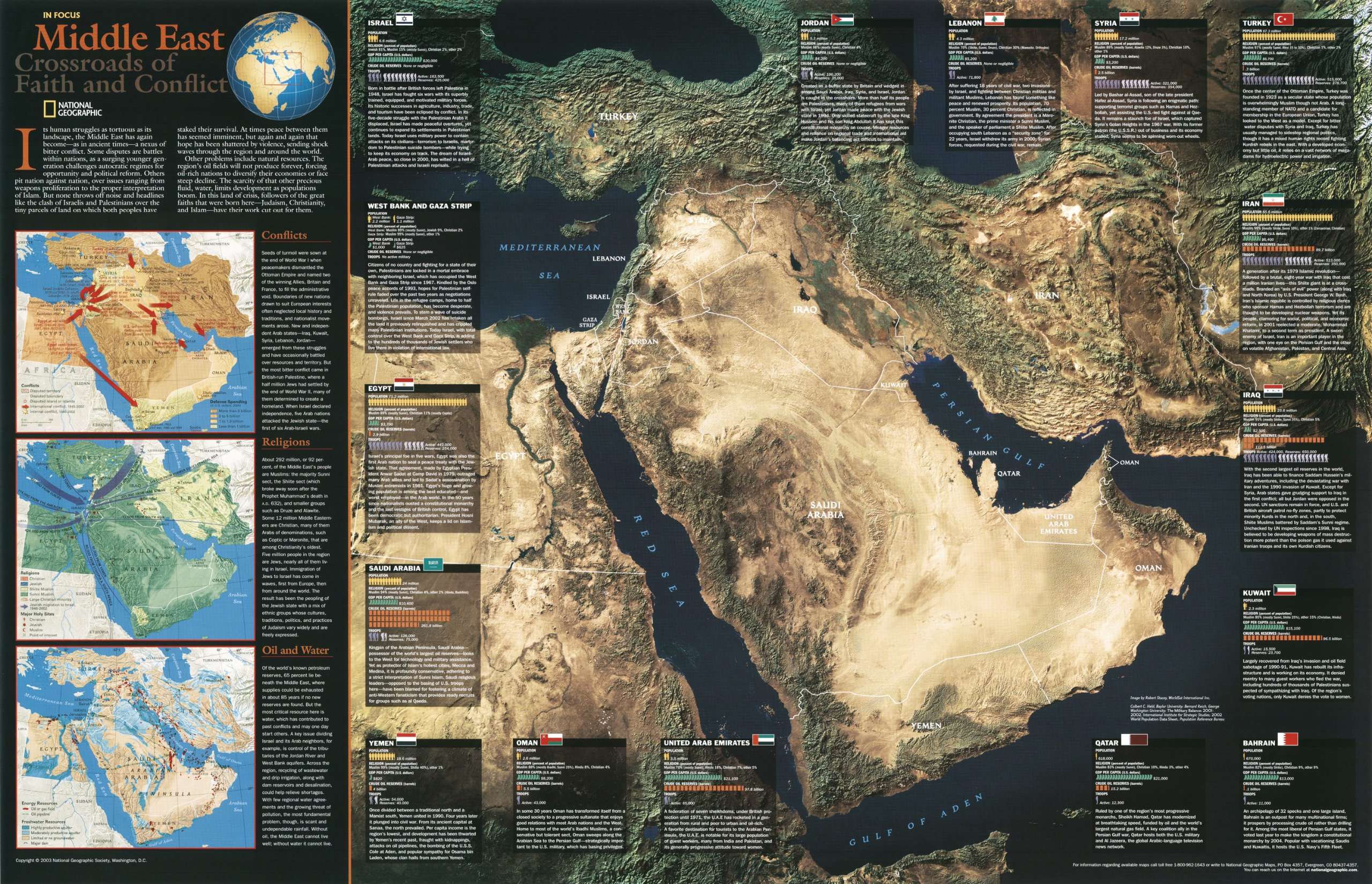 Iraq And The Heart Of The Middle East Wall Map Tubed
