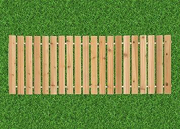 4 Ft. Wide Roll Up Outdoor Garden Walkway Red Cedar   3 Ft.