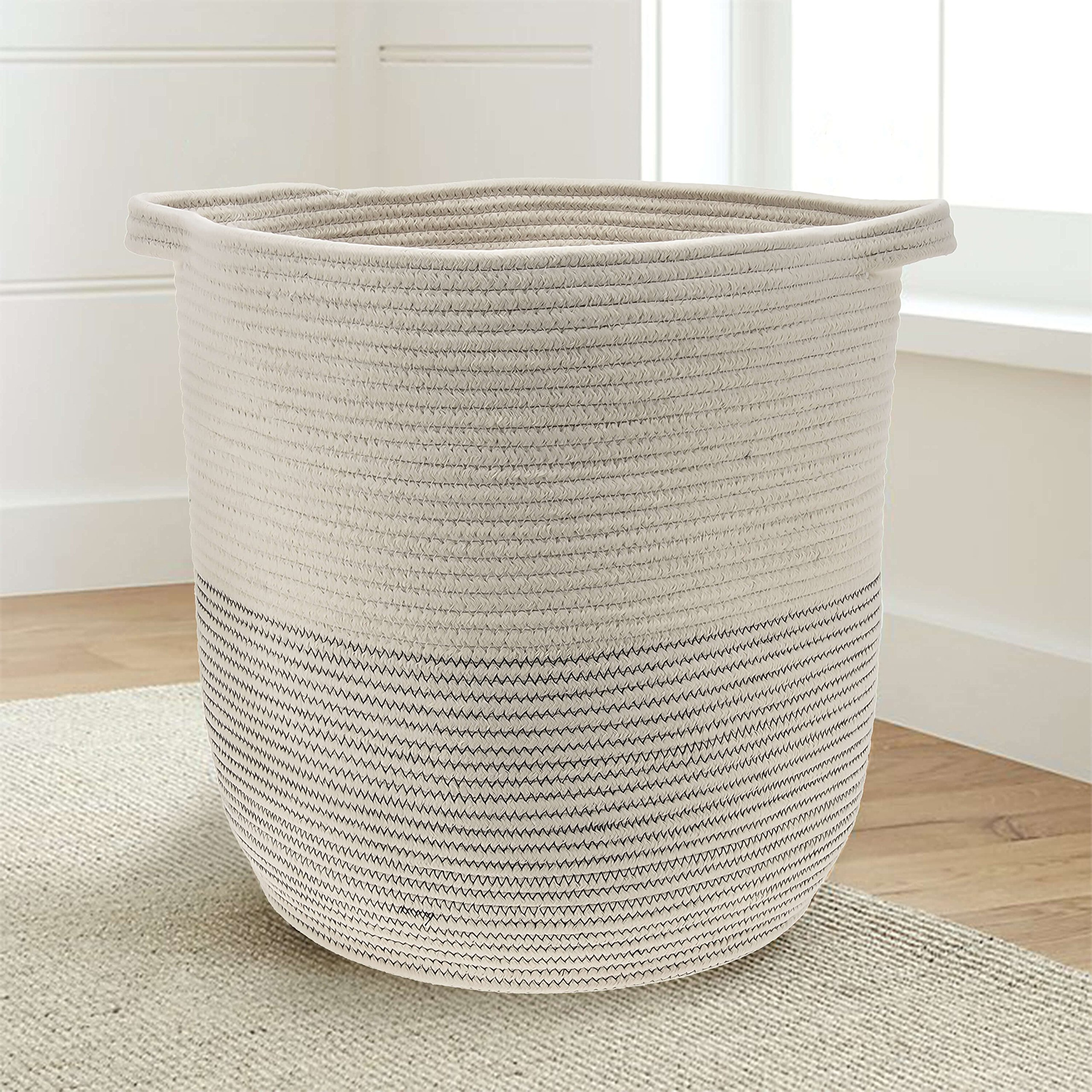 Amazon.com : INDRESSME XL Cotton Rope Storage Basket Baby