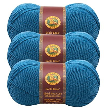 (3 Pack) Lion Brand Yarn 240-178G Sock-Ease Yarn, Snow