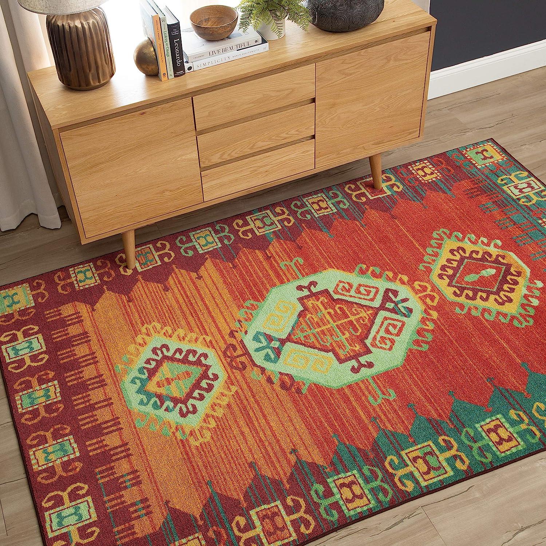 Mohawk Home Prismatic Teton Multicolored Southwest Aztec Precision Printed Area Rug, 8'x10',