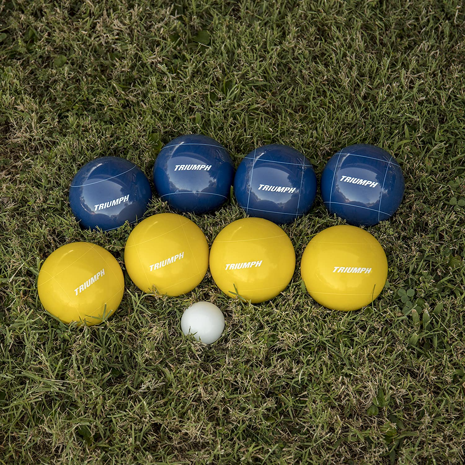 Triumph All Pro 100mm Bocce Set Includes Eight Bocce Balls and Carry Bag One 50mm Jack